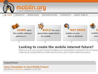 Moblin homepage