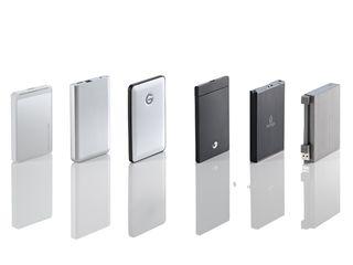 Slim portable hard drives
