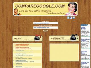 Google Caffeine compare