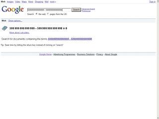 Google maths fail