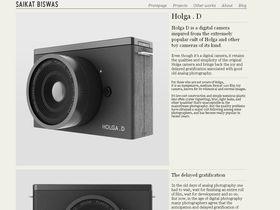 Designer working on Holga digital camera