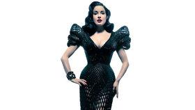 Dita Von Teese models first 3D printed dress