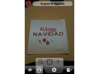 Word Lens and TechRadar wishes you a Alegre Navidad