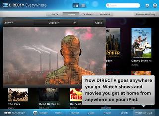 DirecTV iPad app adds on the go video