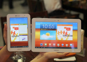 All white Samsung Galaxy Tabs seen in Vietnam