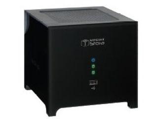 Netgear Stora designed to look like a black box with feet