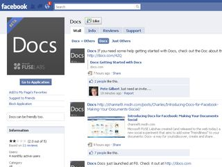 Docs for Facebook not medicinal