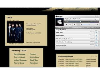Oasis album on MySpace right now