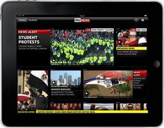 Sky News app for iPad stunning