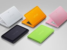 Sony's Vaio C series glows orange or green