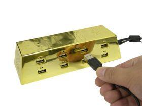 Thanko's latest: USB hub or gold bar?