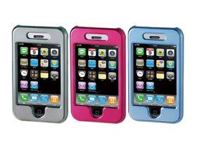 iPhone 3G in metallic pink, grey or blue