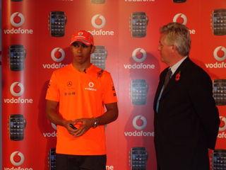 Lewis Hamilton launches the Vodafone exclusive BlackBerry Storm
