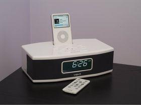 Wake up call with iPod alarm clock dock