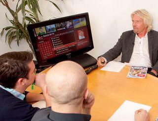 Branson meets TechRadar and the new Virgin Media TiVo box