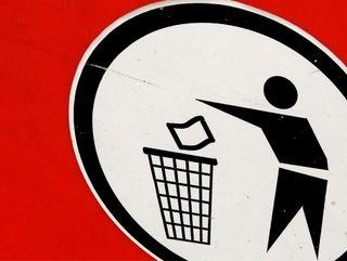 Rubbish sign