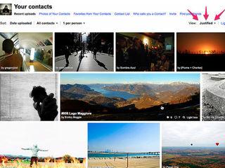 Flickr justified
