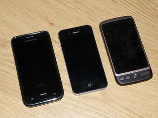HTC Desire vs iPhone 4 vs Samsung Galaxy S