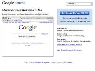 Google Chrome comes to the Mac
