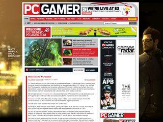 PC Gamer online presence