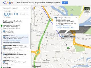 Google Maps adds UK rail info