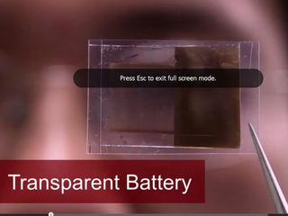 Transparent battery