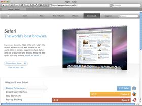 Apple Safari triples users
