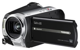 Toshiba launches hi-def Gigashot camcorder range